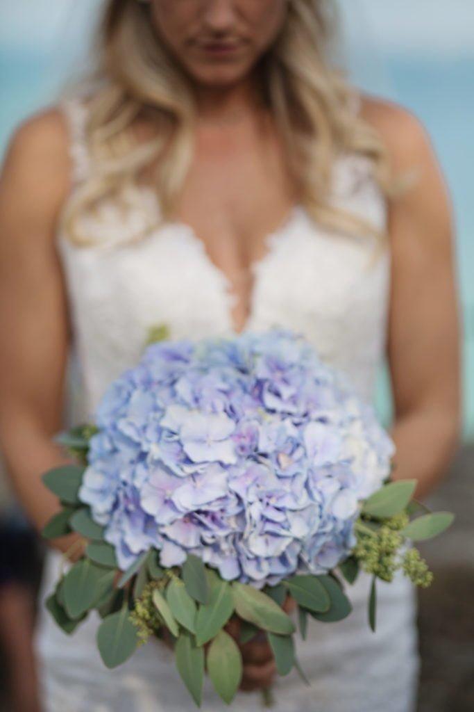 Menyasszonyi virágcsokor kék hortenzia-MISS LULLI Decor
