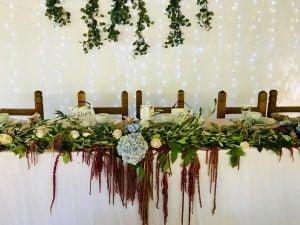 Főasztali leomló őszi, rusztikus virágdekor horetnzia-MISS LULLI Decor