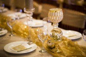 Elegáns karácsonyi asztaldíszek, gyertyatartók, terítő- MISS LULLI Decor