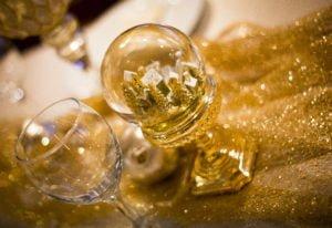 Arany karácsonyi hógömb elegáns karácsony -MISS LULLI Decor