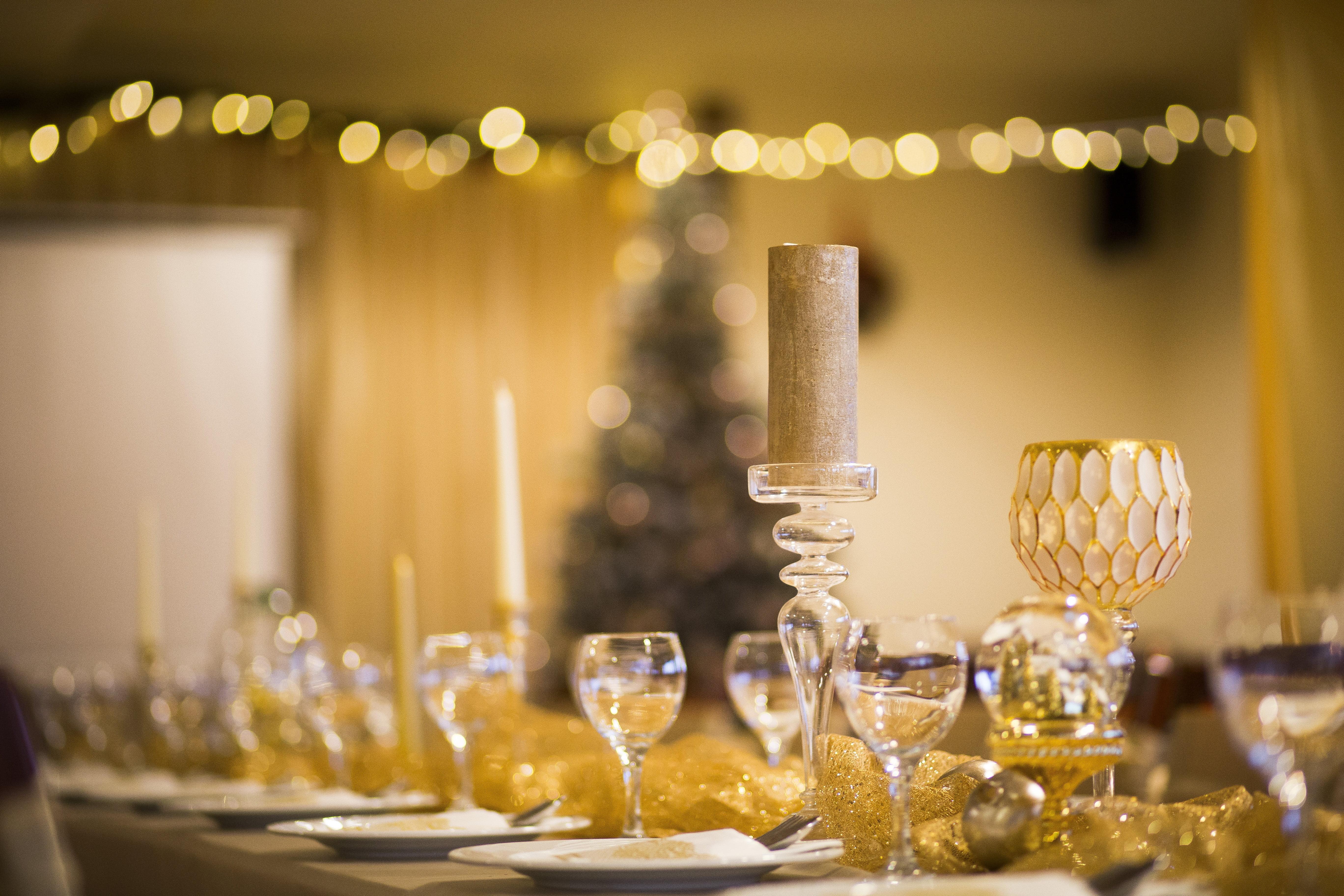 Rozmaringos arany Karácsonyi dekoráció
