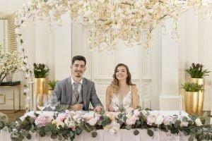 Cseresznyevirág háttér főasztal dekor- MISS LULLI Decor