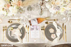 Esküvői pasztell teríték- MISS LULLI Decor