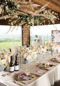 Gyönyörű asztaldekor pezsgőszín Hilltop MISS LULLI Decor