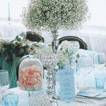 Rezgő asztaldísz ezüst gyertyatartóval -MISS LULLI Decor